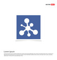 network icon - blue photo frame vector image