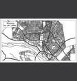 niamey niger city map iin black and white color vector image