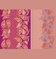 paisley - vertical seamless pattern set of 2 vector image vector image