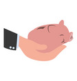 piggy money savings vector image vector image