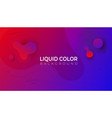 plastic liquid red waves banner template vector image