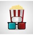 Pop corn cinema and movie design vector image vector image