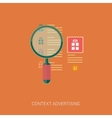 Product search and context advertising icons vector image