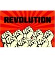 Protest rebel revolution art poster vector image vector image