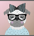 pug puppy dog cartoon vector image vector image
