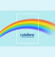 rainbow background with text space vector image