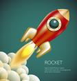 Rocket icon space fire symbol flame cartoon vector image vector image