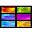 set colorful background vector image