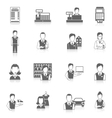 Set icons salesman black vector image vector image