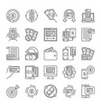 set money minimal line icons - finance vector image vector image