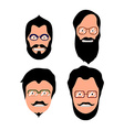 Set of hipster portraits vector image