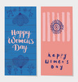 set of holiday spring vertical cards vector image