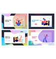 set rock music players and girl dancer musical vector image vector image