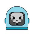 skull in space helmet dead space vector image vector image