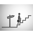 Stairs to success vector image vector image