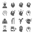 stress depression bold black silhouette icons set vector image vector image