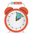 Ten Minutes Stop Watch - Alarm Clock vector image vector image