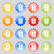 Text file icon sign Big set of 16 colorful modern vector image