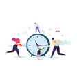 time management concept flat characters business vector image vector image