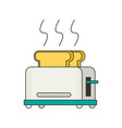 toaster flat icon vector image vector image