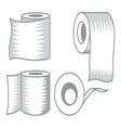 Toilet paper icon7 resize vector image vector image
