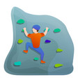 wall climbing sport icon cartoon style vector image vector image