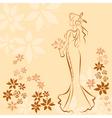 Wedding invitation card with elegant beautiful vector image