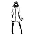 woman in a jacket suit fashion vector image