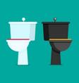 toilet flat vector image