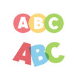 abc letters icons vector image vector image