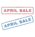 april sale textile stamps vector image vector image