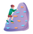 athletic wall climbing icon cartoon style vector image vector image