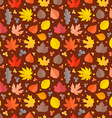 Autumn seamless pattern Fall leaves collection vector image