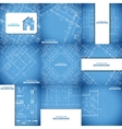 Blue architecture background set vector image vector image