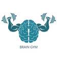 brain gym vector image