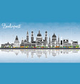 budapest hungary city skyline with gray buildings vector image vector image