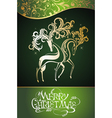 Christmas decorative deers vector image