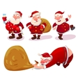 Collection of Santa Claus vector image vector image