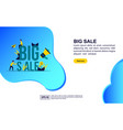 concept big sale modern conceptual for banner vector image