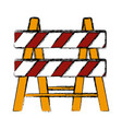 construction barrier isolated