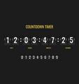 countdown timer meter scoreboard digital watch vector image
