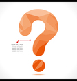 creative question mark info-graphics concept vector image vector image