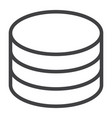 data storage line icon web and mobile database vector image vector image