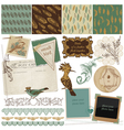 Design Elements - Vintage Bird Feathers vector image vector image