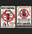 domestic disinsection pest control service posters vector image vector image