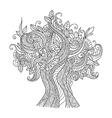 Doodle art tree vector image vector image