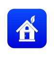 eco house concept icon digital blue vector image vector image