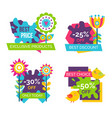 exclusive products best price spring labels flower vector image vector image