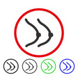 female boobs rounded icon vector image vector image