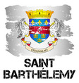 flag of st barthelemy from brush strokes vector image vector image